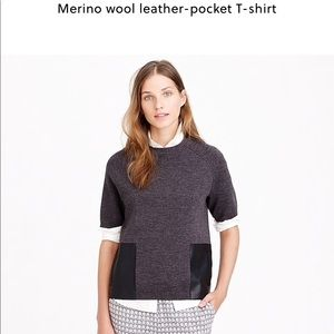 Merino Wool Pocket T. Actual leather pockets-real.